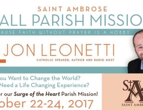 Fall Parish Mission with Jon Leonetti