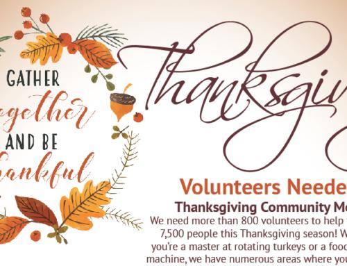 Thanksgiving Community Meal, November 22