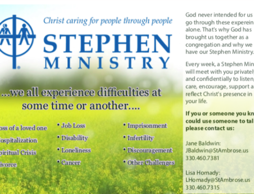Stephen Ministry is Here to Help